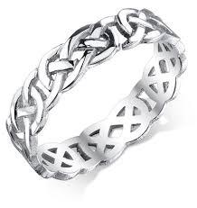 celtic knot wedding bands celtic knot wedding band in 14k white gold
