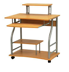 Small Metal Computer Desk White And Black Wooden Portable Computer Desk With Apron Added