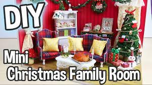 diy miniature dollhouse kit christmas living family room with
