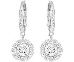 pierced earrings attract light pierced earrings white rhodium plating jewelry