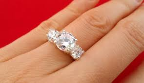 3 carat ring 3 diamond anniversary rings wedding promise diamond