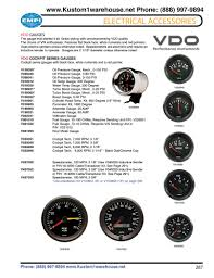 vdo cockpit gauges oil pressure oil and water temperature fuel