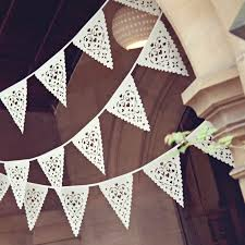 laser cut bunting and hessian wedding decor from baloolah bunting