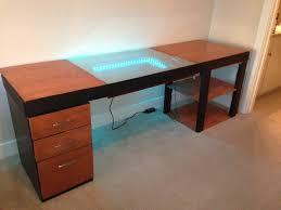 gaming desk designs infinity mirror computer desk design is a trippy adventure