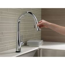 delta essa kitchen faucet pleasing delta essa single handle pull