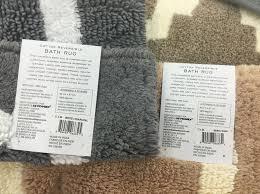 Greyton Ikat Bath Rug Wamsutta Reversible Bath Rug Envialette