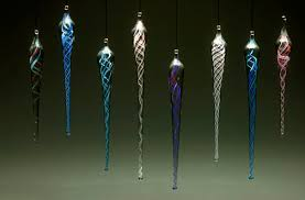 icicle ornaments kalish glass design