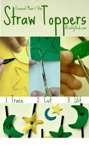 crescent moon and star straw toppers tutorial crafts different
