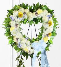 heart wreath pastel sympathy heart wreath avas flowers