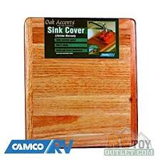 Rv Kitchen Sink Covers by Amazon Com Wooden Rv Sink Cover Cutting Board Kitchen U0026 Dining