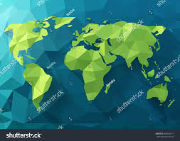 World Map Com by Vector Polygonal World Map Low Poly Stock Vector 468442514