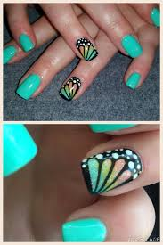 butterfly wing love these nails summer spring bright colors