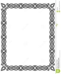 black border with celtic ornament stock image image 4894261