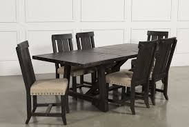jaxon 7 piece rectangle dining set w wood chairs living spaces preloadjaxon 7 piece rectangle dining set w wood chairs top