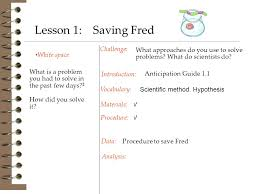 Challenge Procedure White Space Challenge Procedure To Save Fred Introduction