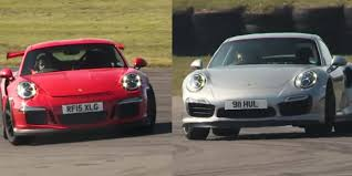 gt3 turbo porsche porsche 911 turbo s vs 911 gt3 rs on track they re amazingly