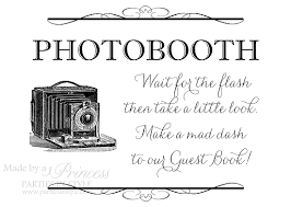 Photo Booth Sign Photobooth For Guest Book Wedding Reception Sign