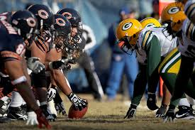 chicago bears versus the green bay packers five to the