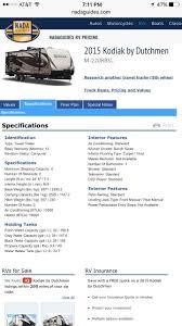 2015 used dutchmen kodiak 221rbsl travel trailer in texas tx