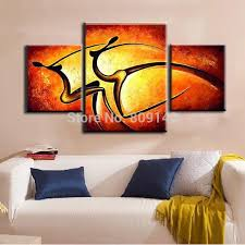 painting for home decoration abstract passion dancing lady portrait oil painting canvas artwork