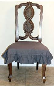 amazon com messy marvin wipeable dining chair seat cover ivory