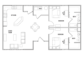 2 bedroom cottage floor plans floor plans the province ta student housing ta fl