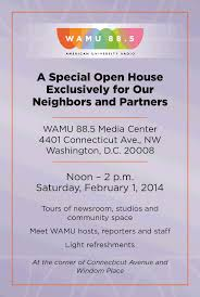 Open House Invitation Reminder Wamu Open House Saturday Forest Hills Connection