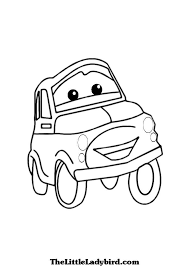 cartoon car drawing free vehicles coloring pages thelittleladybird com