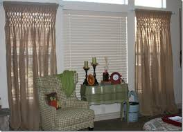 Smocked Burlap Curtains Have A Daily Cup Of Mrs Olson B Is For Burlap And Bananas