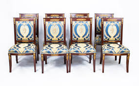 antique empire style 8 mahogany ormolu chairs c 1920