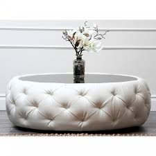 white round tufted ottoman round tufted ottoman coffee table foter intended for white tufted