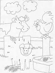 farm animals dot dot game coloring pages hellokids