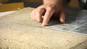 Installing Laminate Flooring On Concrete How To Lay Stick Down Vinyl Tiles On Concrete Floors Flooring