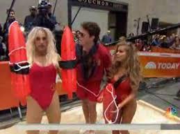 Baywatch Halloween Costume Today Show Halloween Costume Video Matt Lauer Baywatch Star