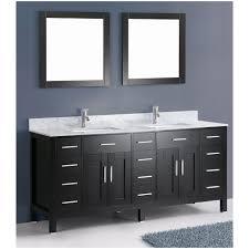 ace contemporary 72 inch double sink bathroom vanity set black finish