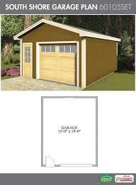 south shore garage plan 16 x 20 1 1 2 car garage 60105set south shore garage plan 16 x 20 1 1 2