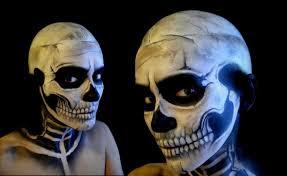 skeleton halloween make up youtube
