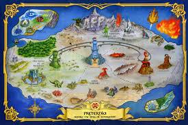 Dc Comics Map Masters Of The Universe Classics Club Eternia Map Of Preternia