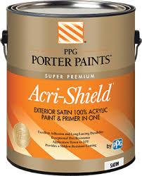 Exterior Paint And Primer - acri shield u003csup u003e u003c sup u003e exterior acrylic paint from ppg porter paints