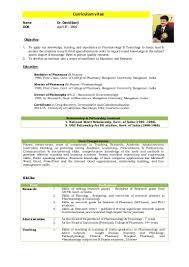Clinical Pharmacist Resume Dr David Banji Cv