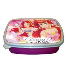 princess ariel little mermaid children plastic sandwich lunch box