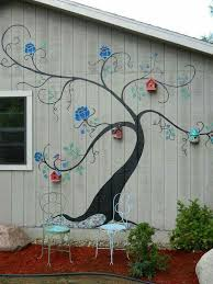 Garden Wall Paint Ideas Outdoor Wall Painting Ideas This Is A Really Idea Fences