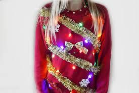 ugly christmas sweater with lights diy light up ugly christmas sweater the samantha show a cleveland