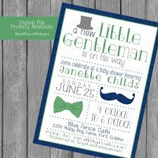 little gentleman baby boy shower invitations top hat bow