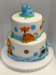 animal baby shower cake by sandralee903 on cakecentral com cakes