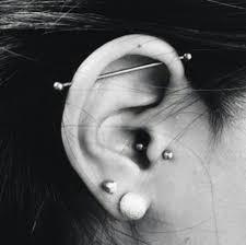 bar earring cartilage cartilage bar piercing tattoos and piercings