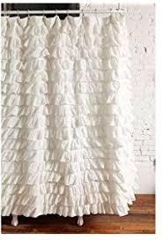 White Shower Curtain Amazon Com Gee Di Moda Gypsy Ruffled Shower Curtain White 70