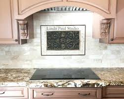 kitchen backsplash metal medallions decorative tile inserts medium size of kitchen tile wall