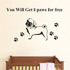 Mural Stickers For Walls Online Get Cheap Wall Stickers Pug Aliexpress Com Alibaba Group