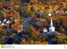 aerial view of a quaint new england town stock photo image 74784921